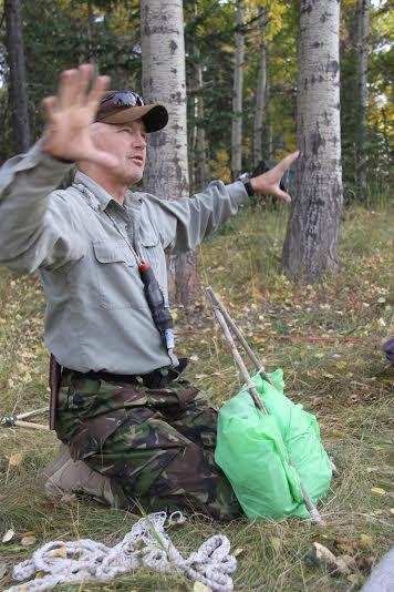 Dave Holder instructing in Alberta, CANADA