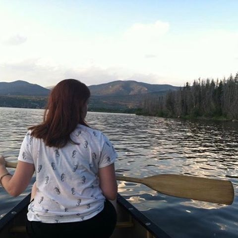 The internet rarely gets a glance of her, but here she is! My wife, paddling in the Rockies last summer