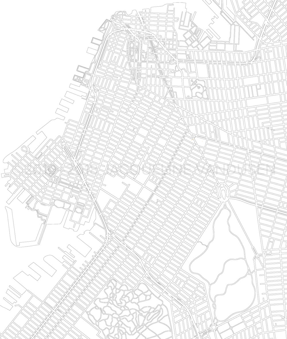 Brooklyn Map (Close-up of west side)