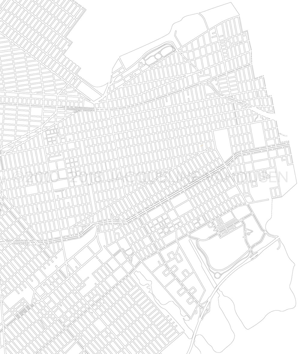 Brooklyn Map (Close-up of east side)