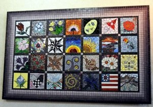 Mosaic quilt 3 ft x 5 ft.