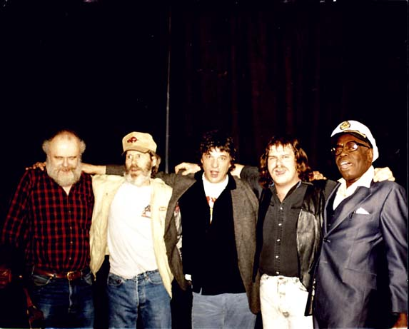 Garth Hudson, Levon Helm, Rick Danko,   Mike Reilly, and Clifford Scott  1992