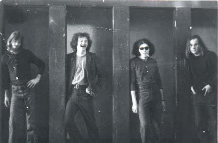 This was the band that made want to do it! I got to sneek in to the   backstage area at Pinnwinnie's Iron Factory in Fullerton, CA in 1970. Reggie Loudermilk, Will Brandy, Arthur Goldstein and (Brother) Bob Reilly.