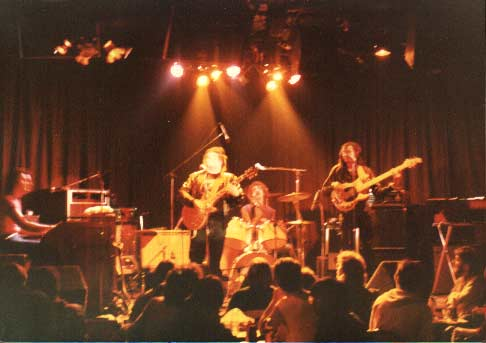 "Band #1 – 1984    This picture was taken at my all time favorite venue, ""The Golden Bear"" in 1984. Harland Spector, myself, Jan Ashley and Calvin Hardy."