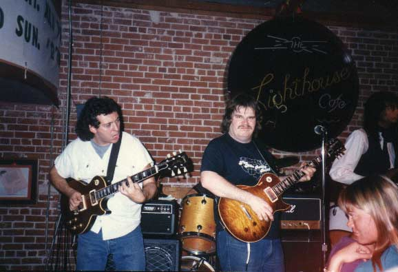 "Band #3 – 1985 Joe Lawing, me and Calvin Hardy at ""The Lighthouse."""