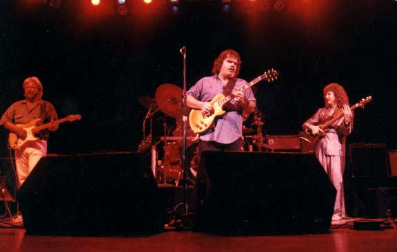 "Danny Ott, myself and Vernon Porter opening for Joe Walsh at the ""Universal Amphitheater"" in 1987."