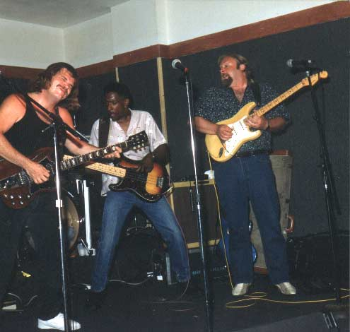 Band #6 – 1988-92 Sean Finnigan, Mark T. Williams, me, Gerald Johnson and Danny Ott. This is the band that backed up both Gregg Allman and Garth Hudson.
