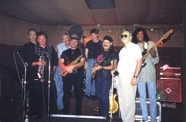The touring band - Dave Wolford, Les Kepics, Mike Finnigan, Tom Saviano, Mark T. Williams, me, Dwayne Smith and Calvin Hardy.