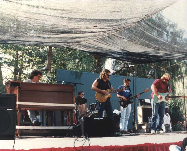 "Band #7 – 1993-95 Shawn Nourse, Danny Ott, Sean Finnigan, Mike Barry, me and let's say an old friend! This was the band to record my 2nd CD, ""Caught In The Act""."