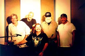"Band #8 – 1997-2000 1997 The ""Who's been sleeping in my bed"" recording sessions - Trevor Lawrence, Tom Saviano, me, Lee Thornburg, David Wolford"