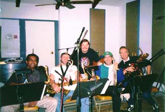 "Band #8 – 1997-2000 1997 The ""Who's been sleeping in my bed"" recording sessions -  Trevor Lawrence, Tom Saviano, Mike Reilly  , Lee Thornburg, David Wolford"