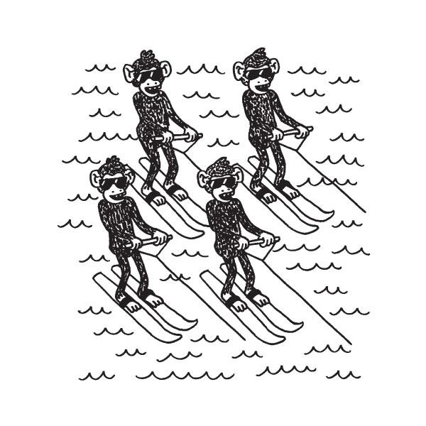 Waterskiing Chimpanzees