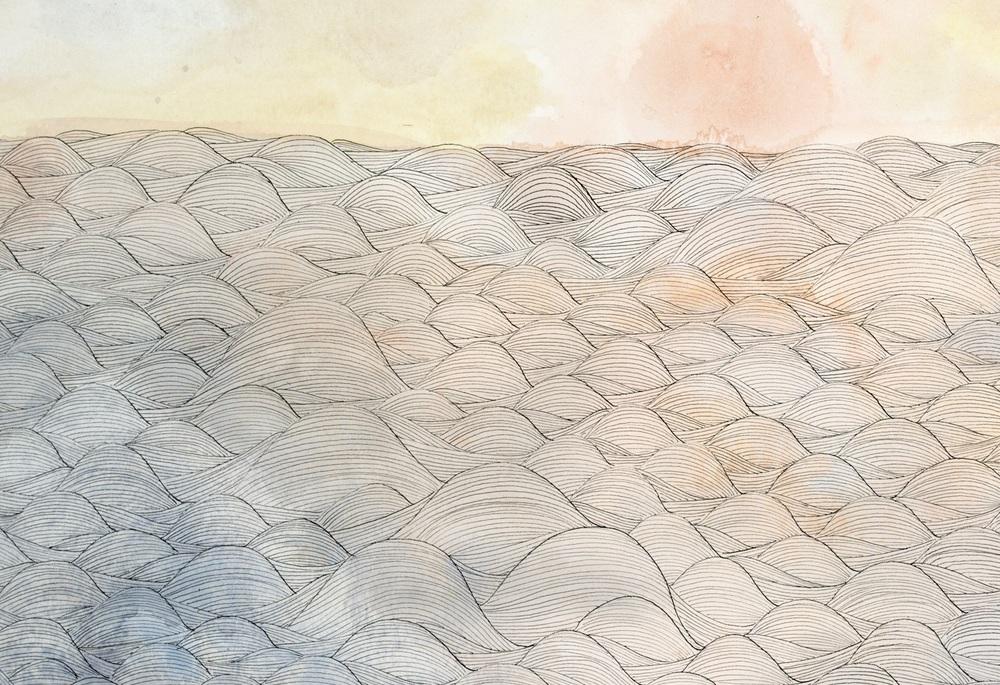 """making waves, """"I blushed"""", (detail)"""