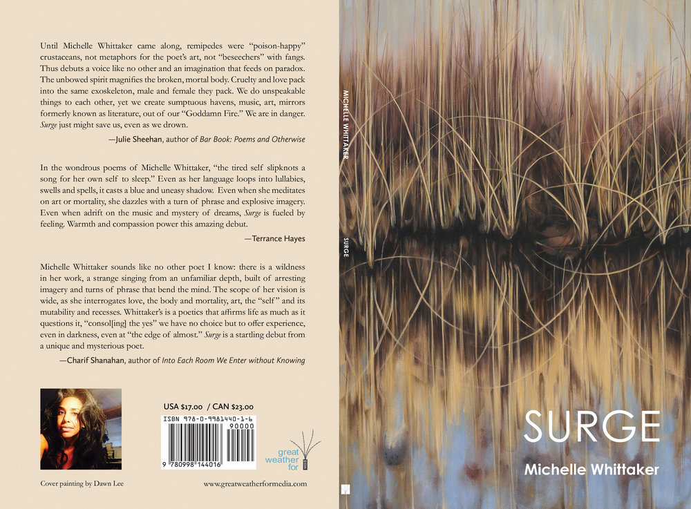 Michelle Whittaker's newly published collection of poems Cover image by Dawn Lee  Read Dawn Lee's interview with editor Mary McLaughlin Slechta  here .