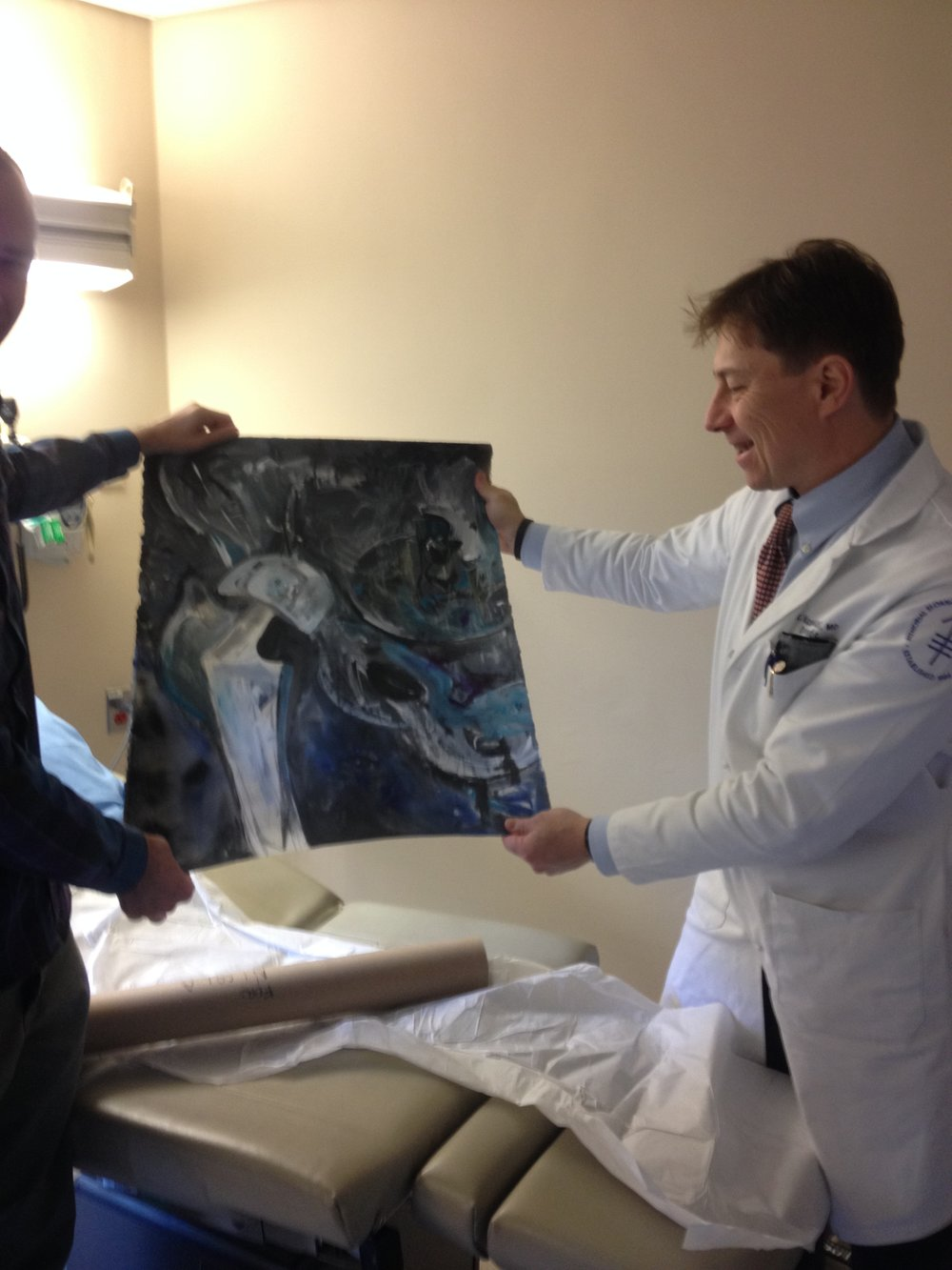 """RoboHip""  Permanent Collection of Dr. Nicola Fabbri, MSKCC Orthopaedic surgeon"