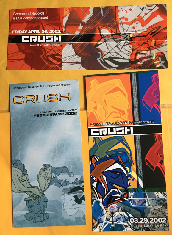 Crush event flyers