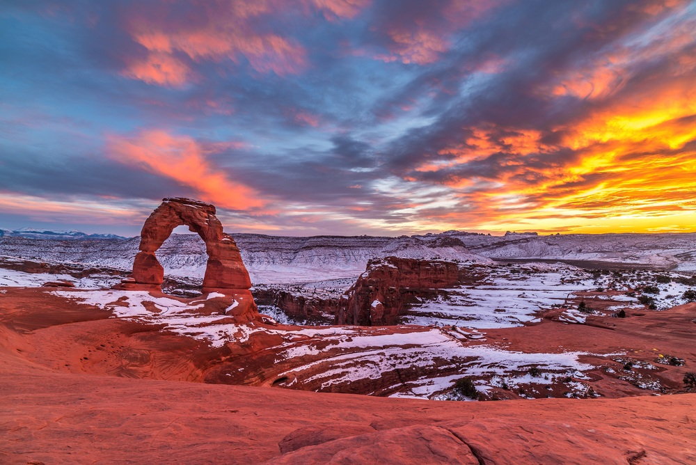 Delicate Arch Fire and Ice