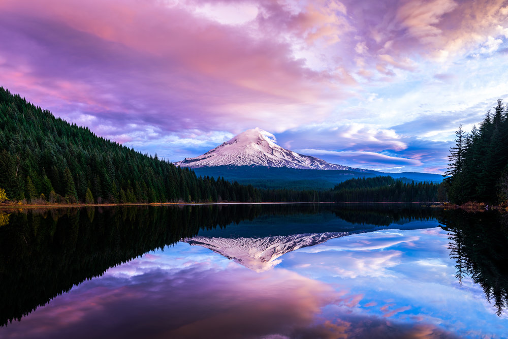 Mt. Hood Sunrise at Trillium Lake