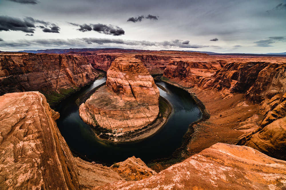 A classic wide shot of horseshoe bend I shot with my 14mm Rokinon.