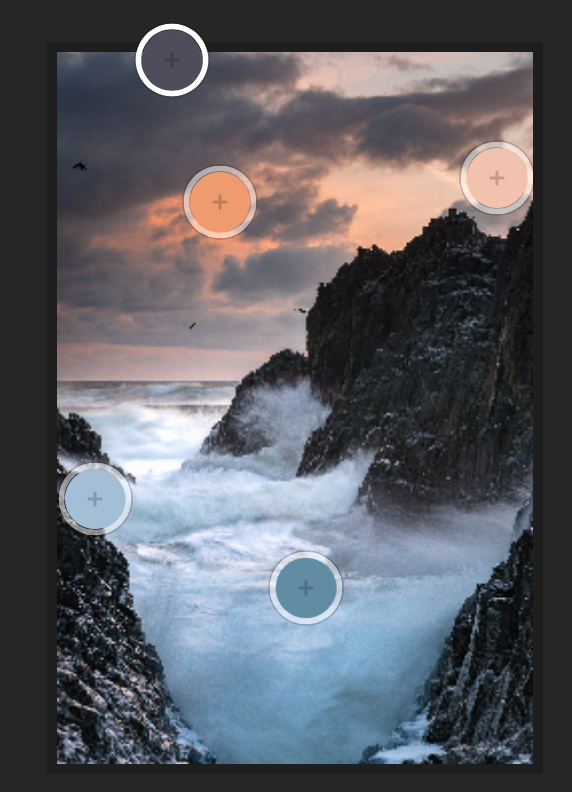 The colors of this image tell a story from the bottom to the top of a coastal sunset. Cooler tones of the Pacific ocean gradually lead into the soft warm sunset creating a nice tension balancing out itself like yin and yang.