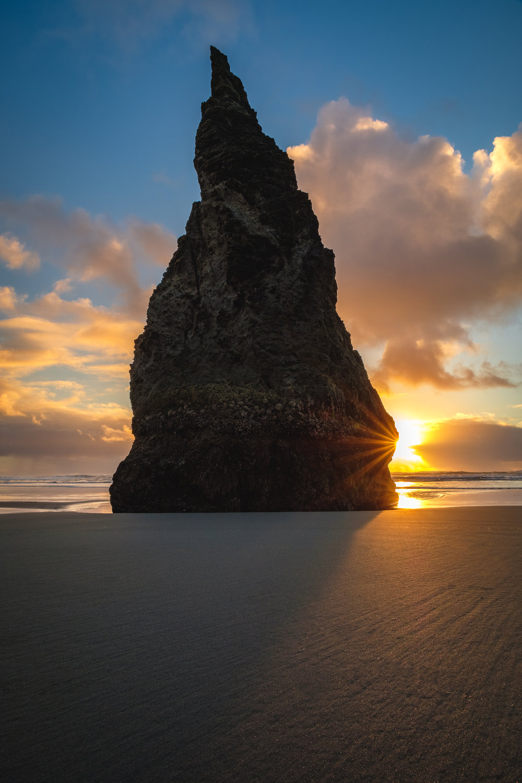 sunstar bandon oregon coast sunset