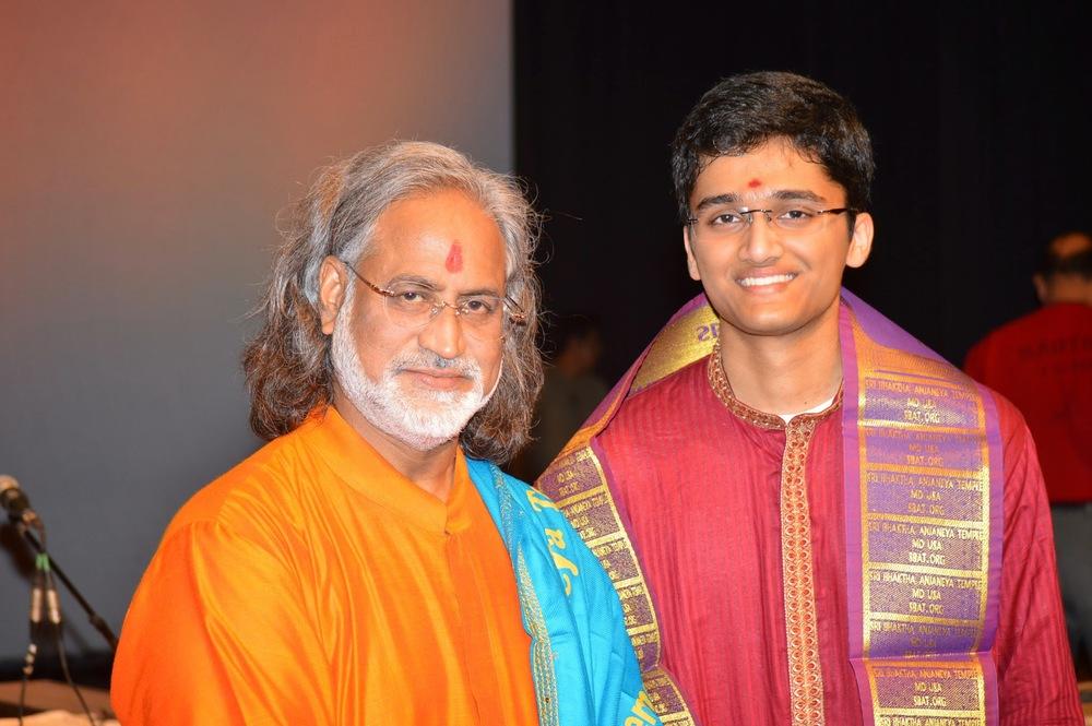 After concert, with Grammy-Award Winner Pandit Vishwa Mohan Bhatt - 2014