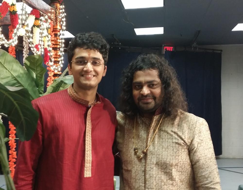 With Sri Patri Satish Kumar, after 'Laya Vinyasam' concert - 2015