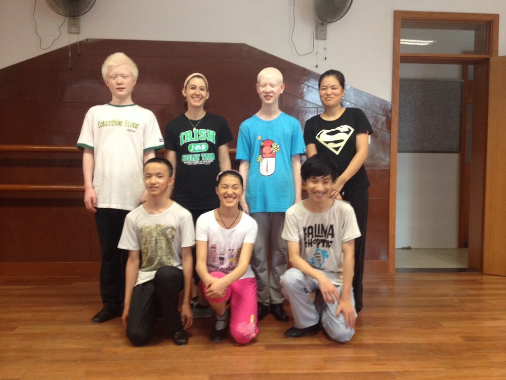 Hardshoe lessons at the Shanghai School for the Blind
