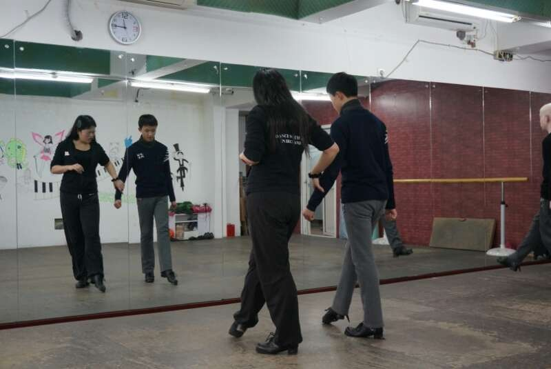 Ariel teaching at a class in Shanghai