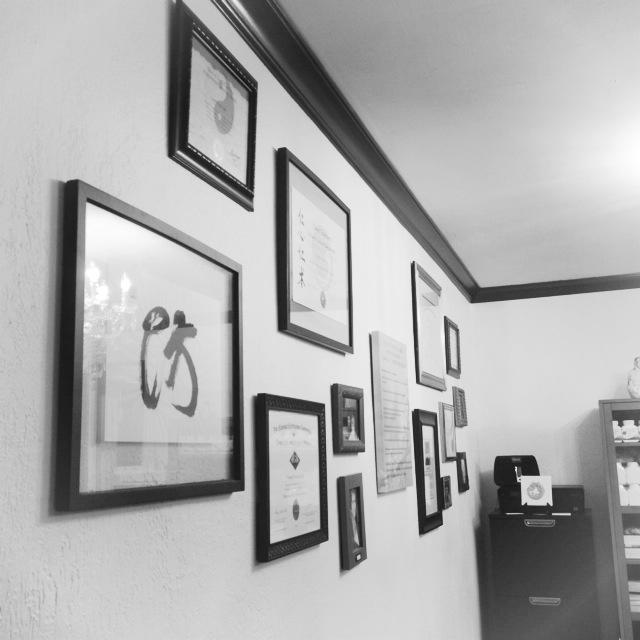 certificate wall b&w.JPG