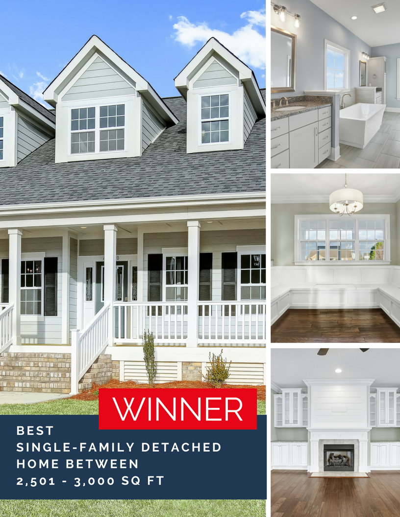 Our award-winning Weston plan available in our unique semi custom build program in a variety of communites in the Hampstead and Sneads Ferry areas!