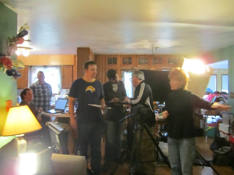 Commercial set with Bolder's Chris Foley