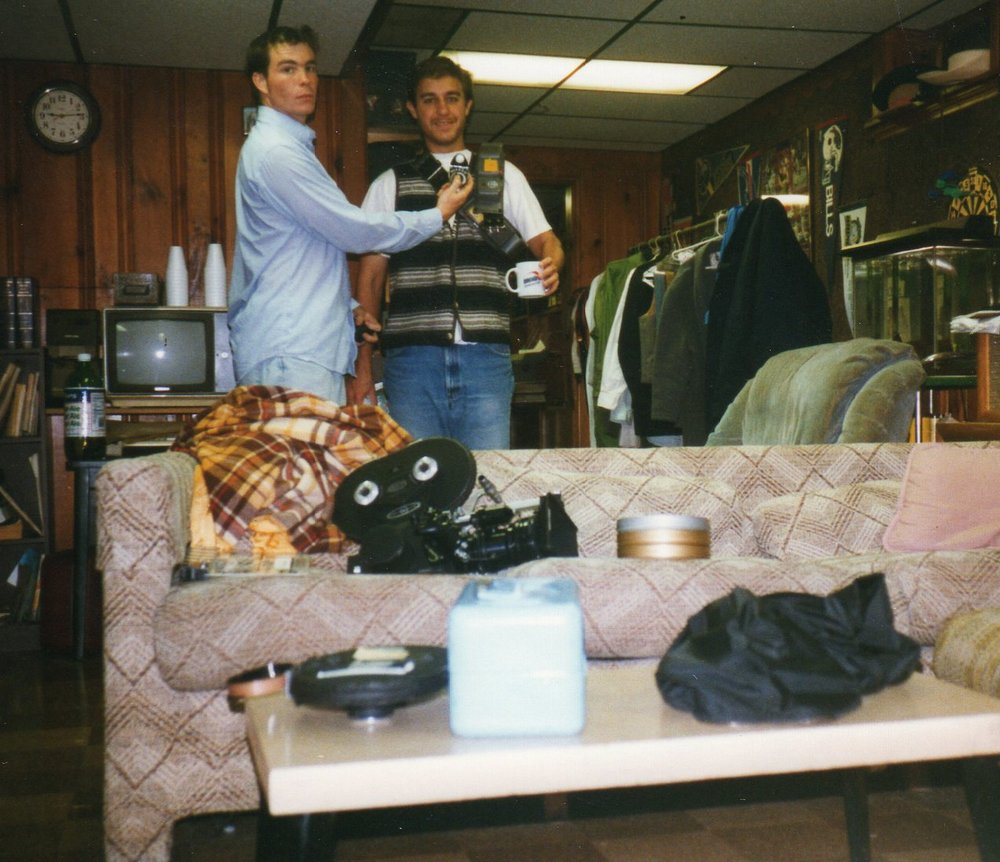 Chris and Matt at the production office for 1998's  Dioscuri