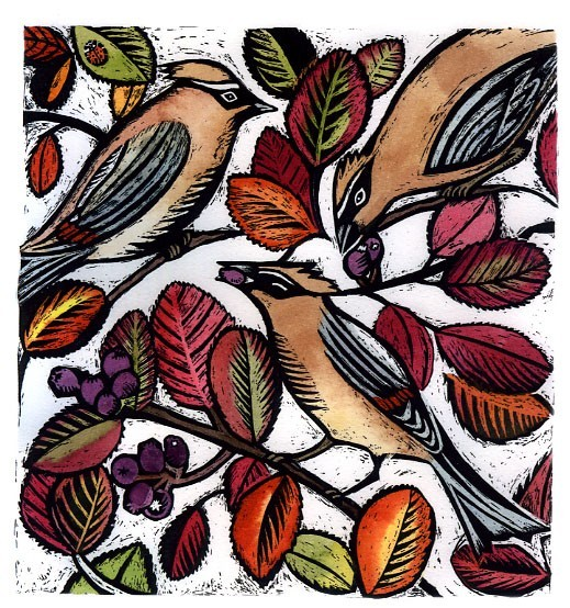 Prints and Cards  ( Waxwings and Serviceberries)