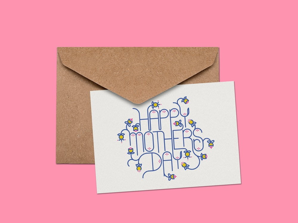 Mother's Day card by Lindsay Santiago