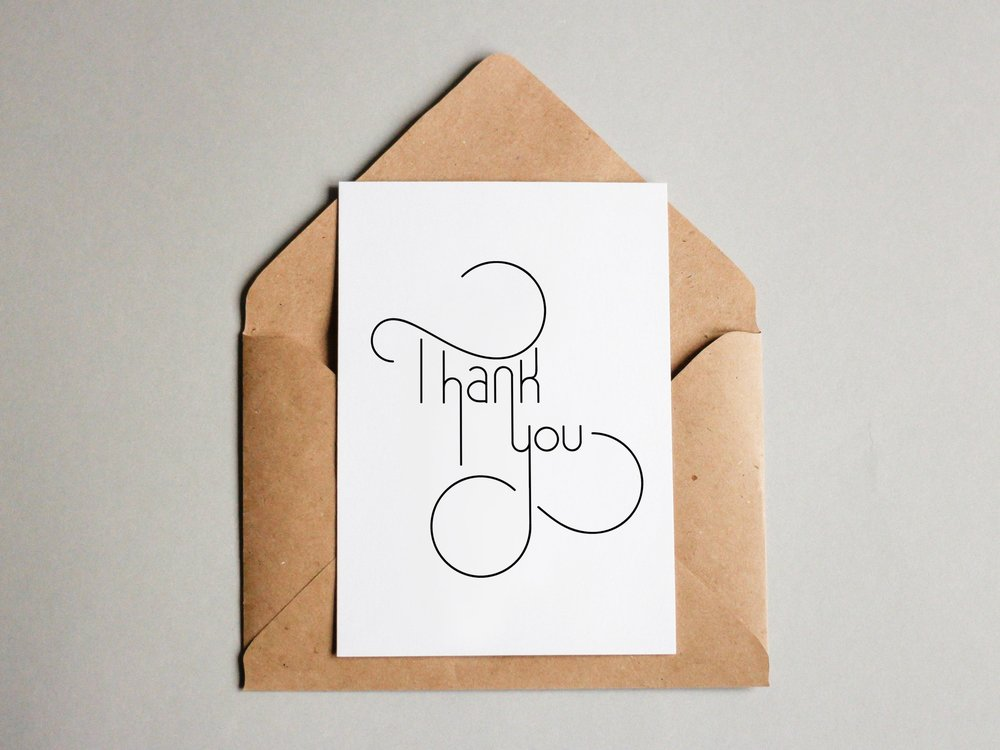 Thank You card by Lindsay Santiago
