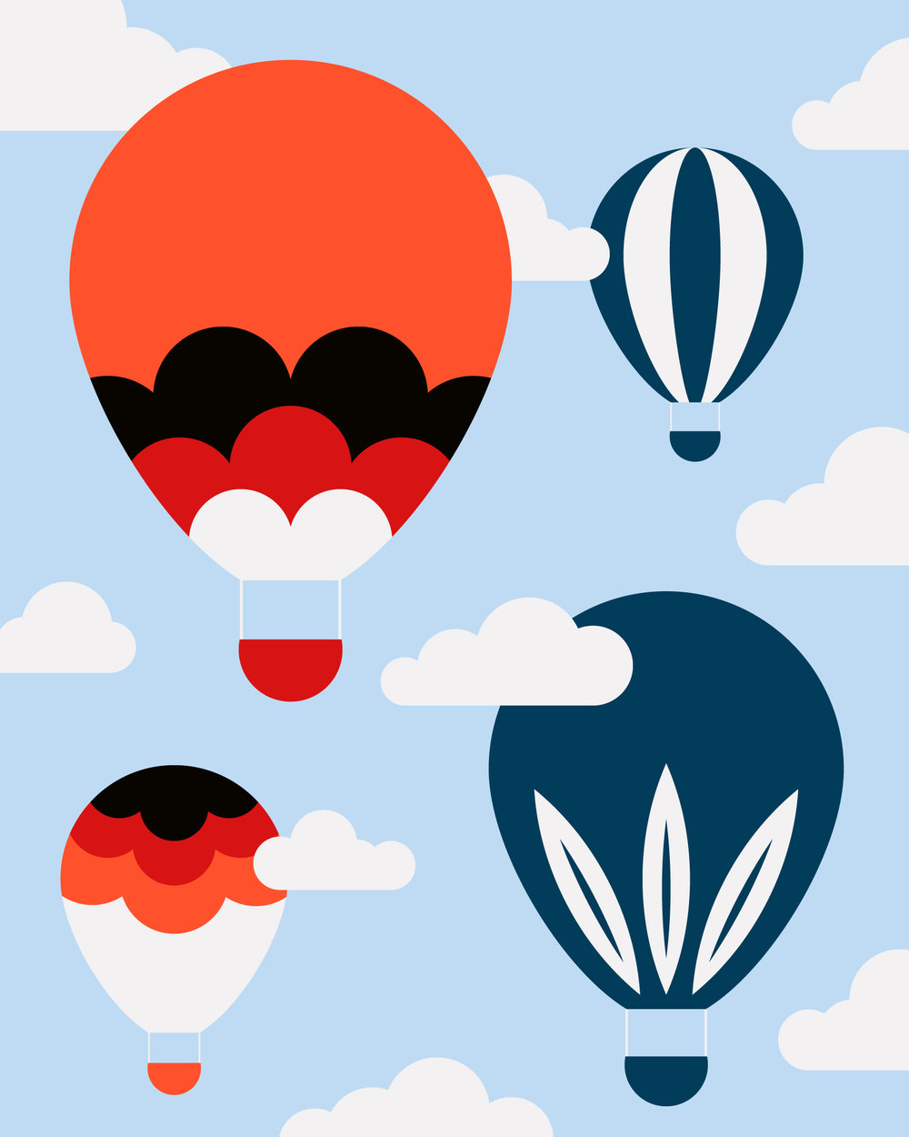 Hot Air Balloons by Lindsay Santiago