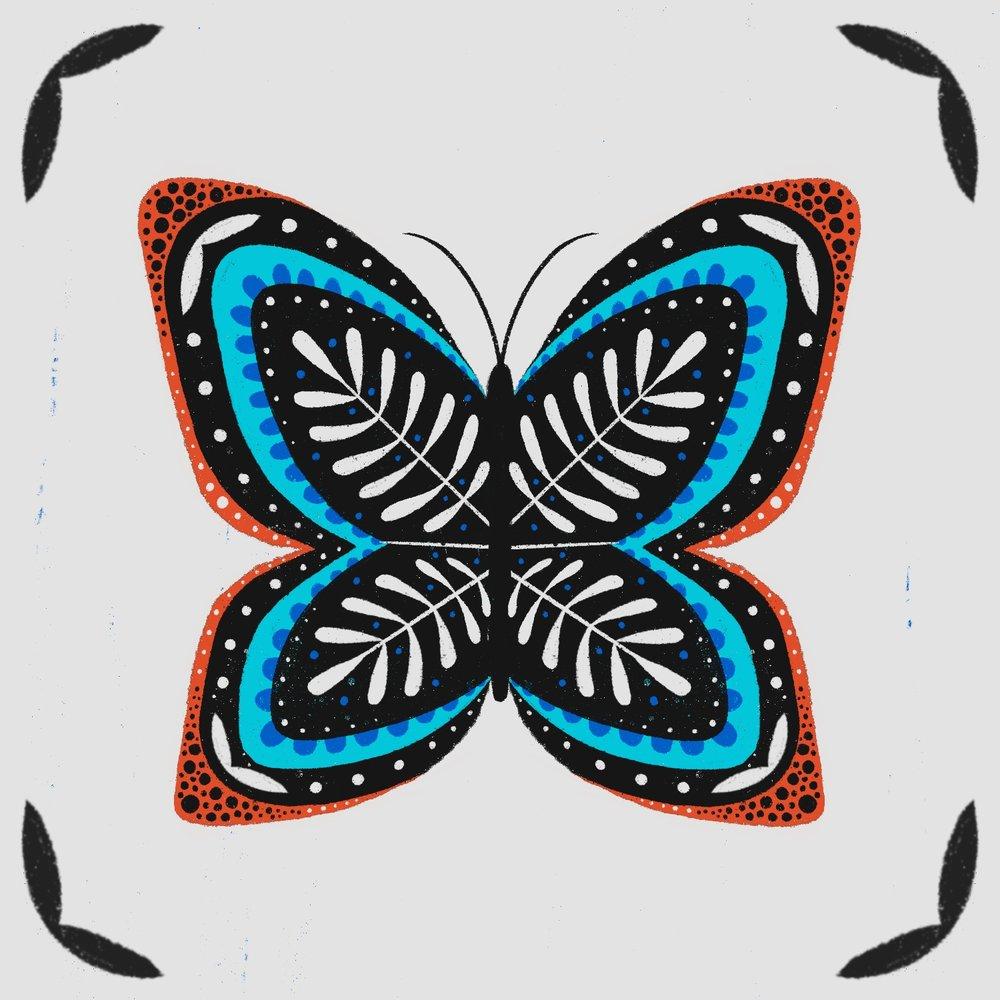 Folk Butterfly by Lindsay Santiago