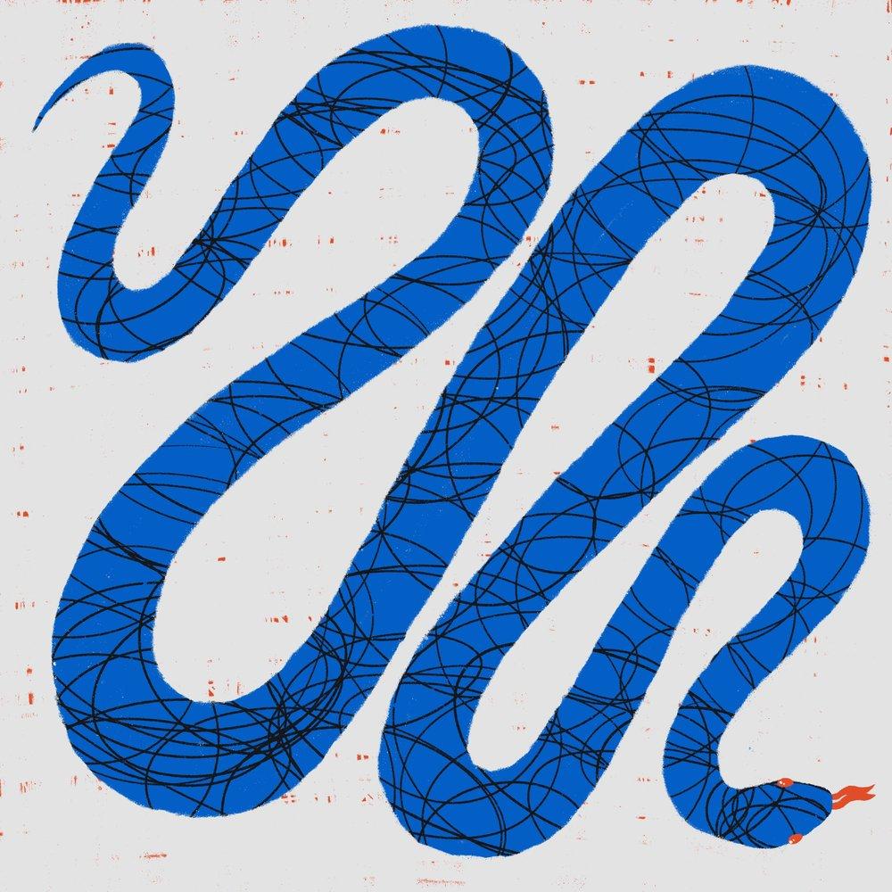 Blue Snek by Lindsay Santiago