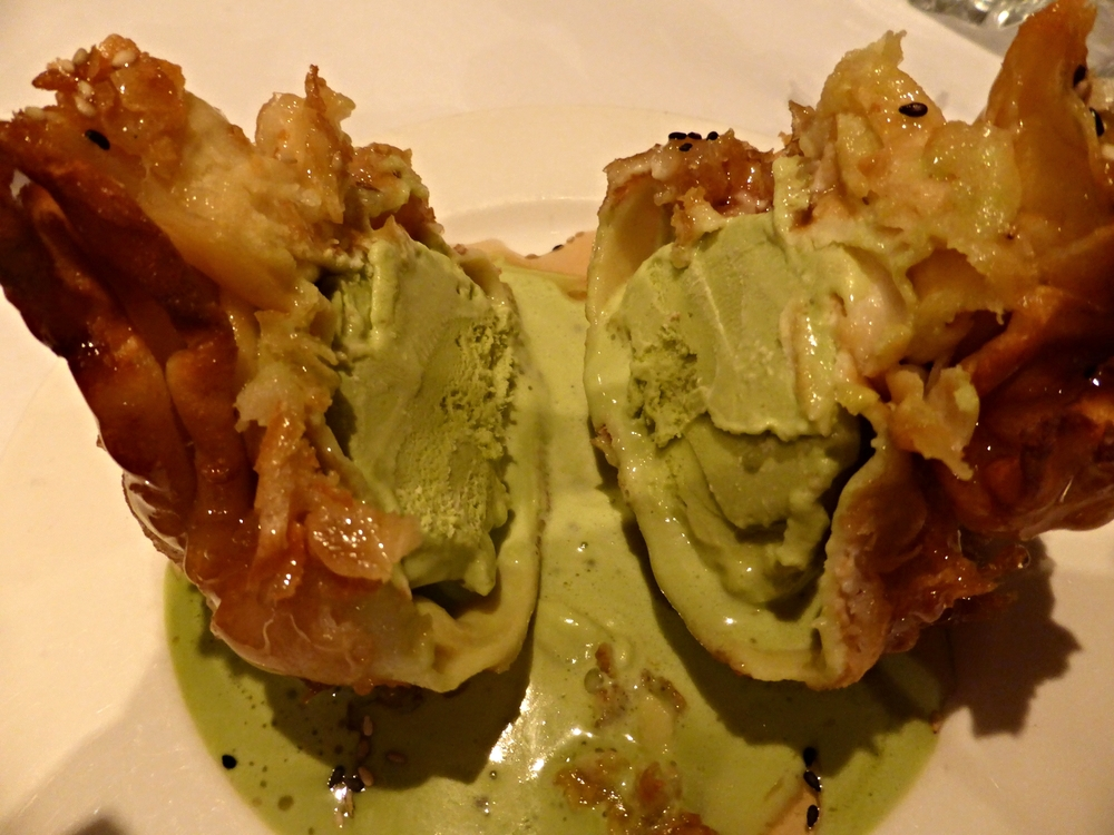 Fried Green Tea Ice Cream - Akita Sushi Montreal - Best sushi in Montreal