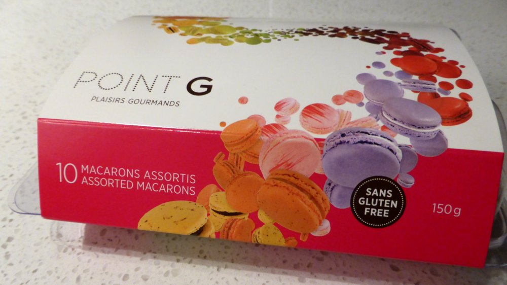 boutique point g - montreal macarons - box of 10 - montreal desserts - my girl montreal