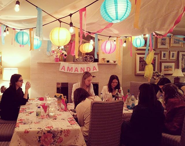 Had a magical bridal shower this evening with my fave girlies and delicious food courtesy of the talented @loredanabaita. A huge shout-out + thank you to my super mama @lorenzasoldera and bestie @leesasantia for organizing and pulling together all my favorite things and setting up this pretty space 😍 #Amanda❤️Rachon
