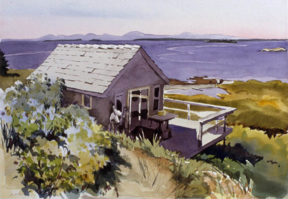 "Oak Island House   Watercolor, 16"" x 20"""