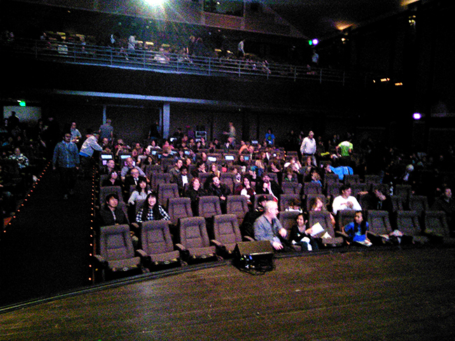 People coming in to the Kabuki Theatre for SFIFF