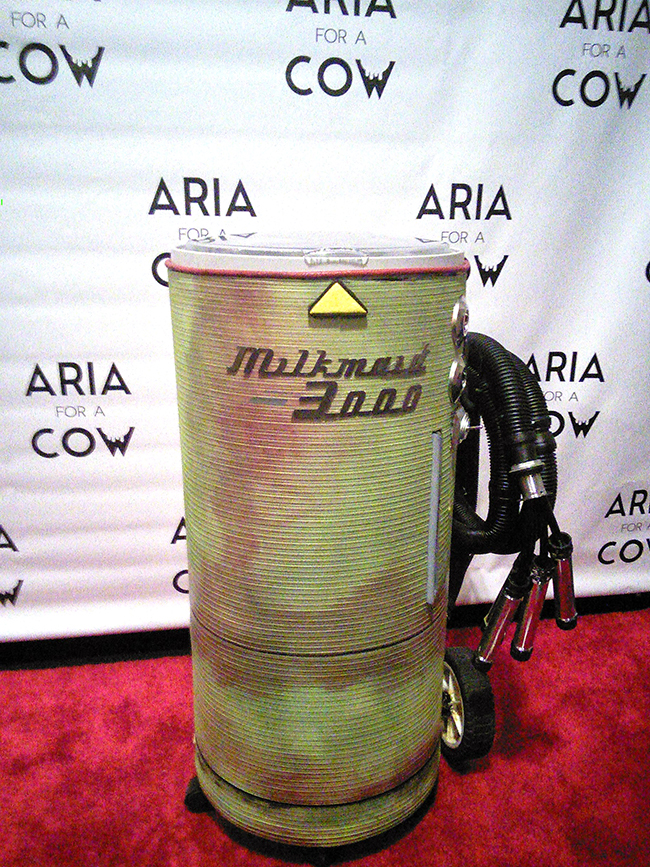 The Milk Maid Machine on the red carpet