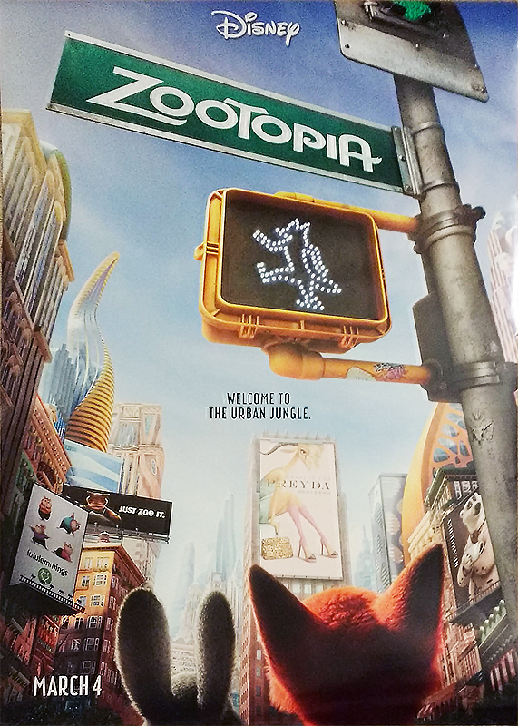 Zootopia poster. Spot the tiger!