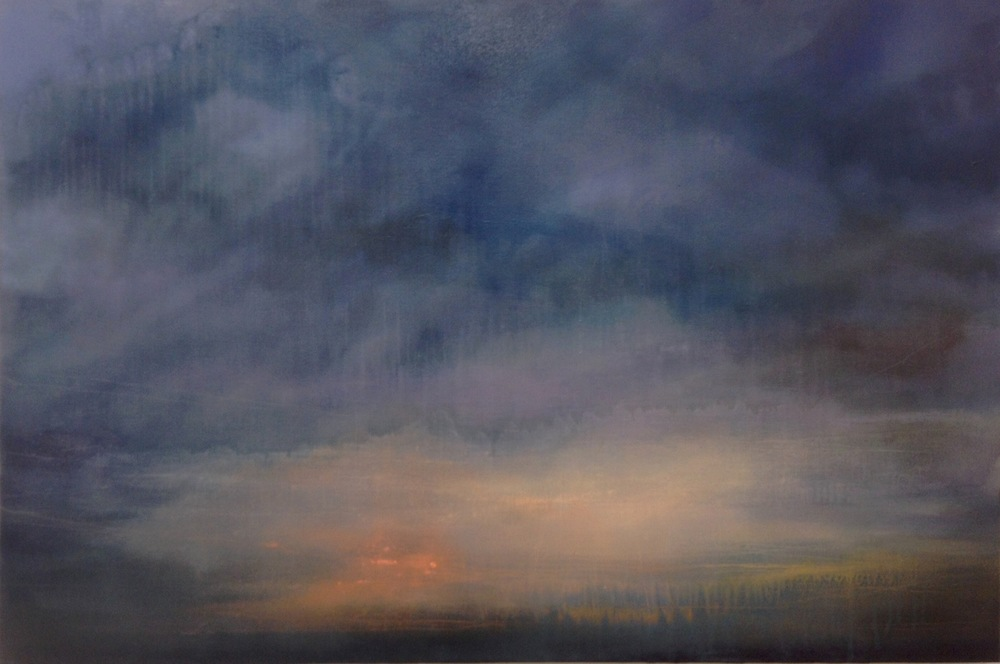 """Fires For the Cold,  oil on canvas, 24 x 36"""""""