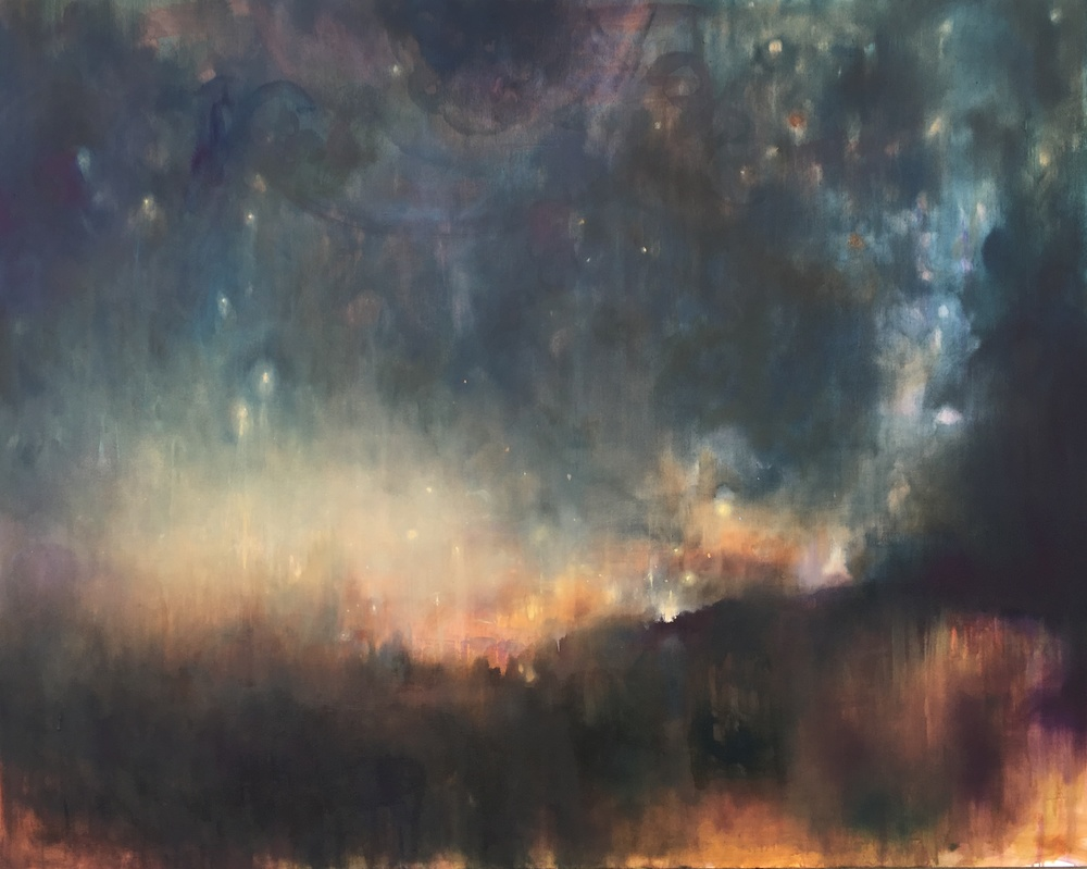 """Blessings of Nigh t, oil on canvas, 48 x 60"""""""