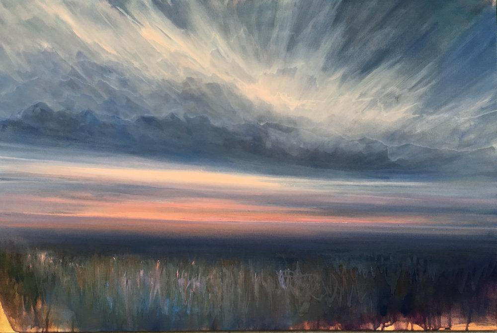 "Where We Meet , oil on canvas, 24 x 36"""