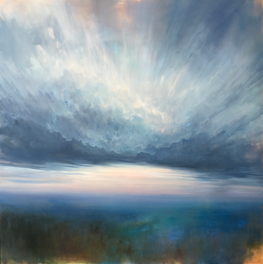 On the Nature of Daylight , oil on canvas, 48 x 48""